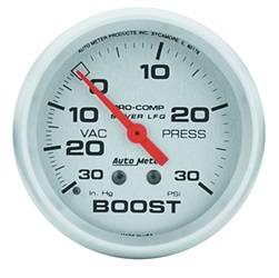 AutoMeter - AutoMeter 4603 Silver LFGs Boost/Vacuum Gauge - Image 1