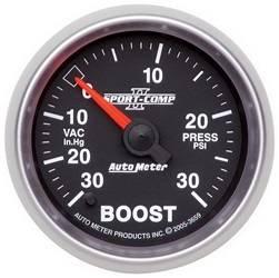 AutoMeter - AutoMeter 3659 Sport-Comp II Electric Boost/Vacuum Gauge - Image 1