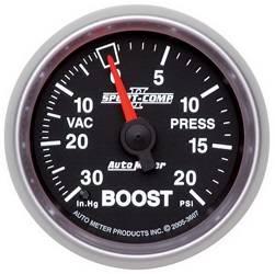 AutoMeter - AutoMeter 3607 Sport-Comp II Mechanical Boost/Vacuum Gauge - Image 1