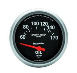 AutoMeter - AutoMeter 3543-M Sport-Comp Electric Metric Oil Temperature Gauge - Image 1