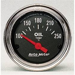 AutoMeter - AutoMeter 2542 Traditional Chrome Electric Oil Temperature Gauge - Image 1