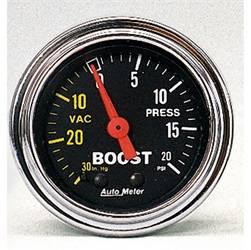 AutoMeter - AutoMeter 2401 Traditional Chrome Mechanical Boost/Vacuum Gauge - Image 1