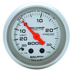 AutoMeter - AutoMeter 4303 Ultra-Lite Mechanical Boost/Vacuum Gauge - Image 1