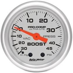 AutoMeter - AutoMeter 4308 Ultra-Lite Mechanical Boost/Vacuum Gauge - Image 1