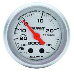 AutoMeter - AutoMeter 4403 Ultra-Lite Mechanical Boost/Vacuum Gauge - Image 1
