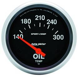 AutoMeter - AutoMeter 3543 Sport-Comp Electric Oil Temperature Gauge - Image 1