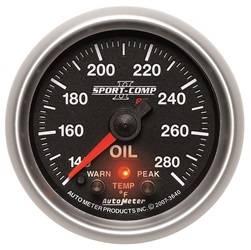 AutoMeter - AutoMeter 3640 Sport-Comp PC Oil Temperature Gauge - Image 1