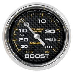 AutoMeter - AutoMeter 200775-40 Marine Mechanical Vacuum/Boost Gauge - Image 1