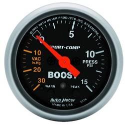 AutoMeter - AutoMeter 3376 Sport-Comp Electric Boost/Vacuum Gauge - Image 1