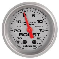 AutoMeter - AutoMeter 200774-33 Marine Mechanical Vacuum/Boost Gauge - Image 1