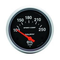 AutoMeter - AutoMeter 3542 Sport-Comp Electric Oil Temperature Gauge - Image 1