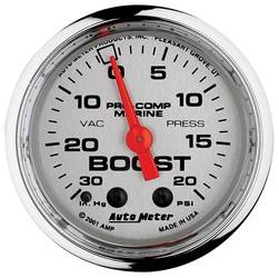 AutoMeter - AutoMeter 200774-35 Marine Mechanical Vacuum/Boost Gauge - Image 1