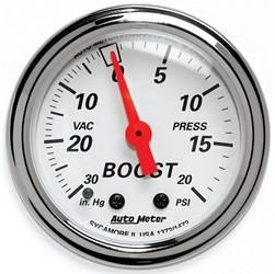AutoMeter - AutoMeter 1372 Arctic White Mechanical Boost/Vacuum Gauge - Image 1
