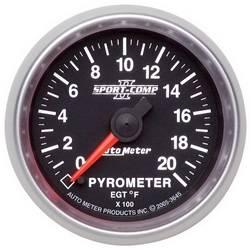 AutoMeter - AutoMeter 3645 Sport-Comp II Electric Pyrometer Gauge Kit - Image 1