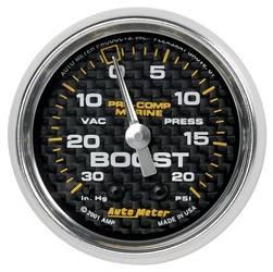 AutoMeter - AutoMeter 200774-40 Marine Mechanical Vacuum/Boost Gauge - Image 1