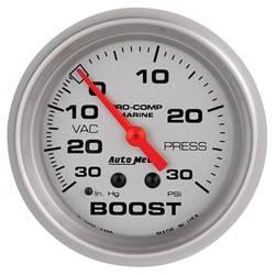 AutoMeter - AutoMeter 200775-33 Marine Mechanical Vacuum/Boost Gauge - Image 1