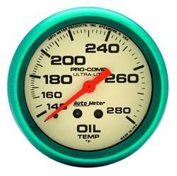 AutoMeter - AutoMeter 4541 Ultra-Nite Oil Temperature Gauge - Image 1