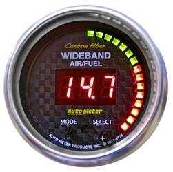 AutoMeter - AutoMeter 4778 Carbon Fiber PRO Wideband Air Fuel Ratio Gauge