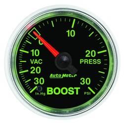 AutoMeter - AutoMeter 3803 GS Mechanical Boost/Vacuum Gauge - Image 1