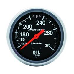 AutoMeter - AutoMeter 3443 Sport-Comp Mechanical Oil Temperature Gauge - Image 1