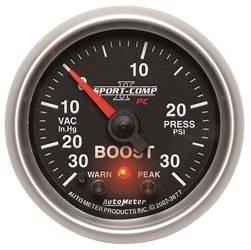 AutoMeter - AutoMeter 3677 Sport-Comp PC Boost/Vacuum Gauge - Image 1