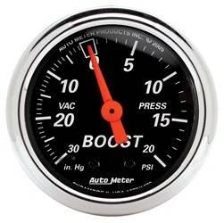 AutoMeter - AutoMeter 1471 Designer Black Mechanical Boost/Vacuum Gauge - Image 1