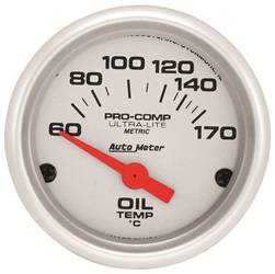 AutoMeter - AutoMeter 4348-M Ultra-Lite Electric Oil Temperature Gauge - Image 1