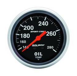AutoMeter - AutoMeter 3441 Sport-Comp Mechanical Oil Temperature Gauge - Image 1