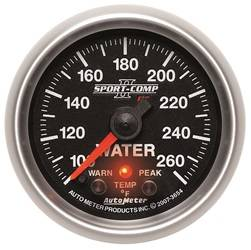 AutoMeter - AutoMeter 3654 Sport-Comp PC Water Temperature Gauge - Image 1